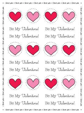 Stickers By the Dozen - Valentine picture