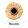 The Twinery™ Marigold Golden Yellow & White Twine