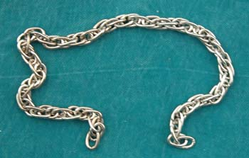 Nickel Finish Rope Chain price per foot picture