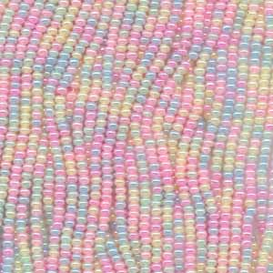BEADS BY THE HANK - Pastel Pearl Mix 11/0 picture