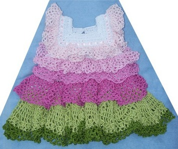 Free Crochet Patterns Using Size 3 Thread : Crochet Dress Pattern Leaflet -