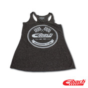WOMEN'S VINTAGE LOGO HEATHER BLACK TANK, SMALL