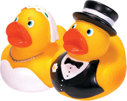 RUBBER DUCKIES BRIDE & GROOM picture