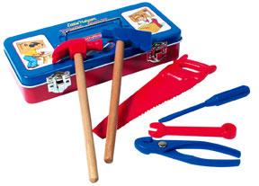 Tin Tool Box W/Tools picture