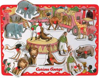Curious George Peg Puzzle picture