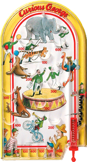 Curious George Pin Ball picture