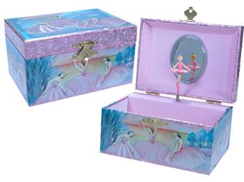 Iridescent Ballerina Jewelry Box Schylling