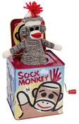 Sock Monkey Jack In The Box