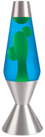 "Lava Lamp - 16.3"" Yellow/Blue picture"