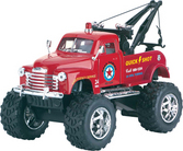 Die Cast Big Wheel Tow Truck