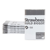 Strawbees Straws Grey