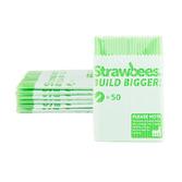 Strawbees Straws Green