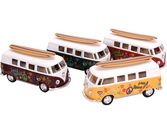 Die-Cast 62' Vw Bus &Surfboard