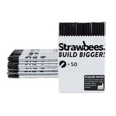 Strawbees Straws Black