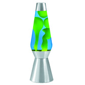 27 LAVA LAMP - YELLOW & BLUE