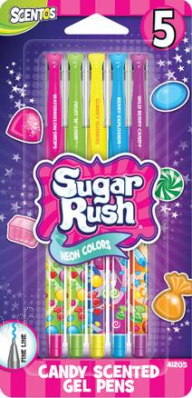 Scented Sugar Rush Gel Pens - 5pk picture