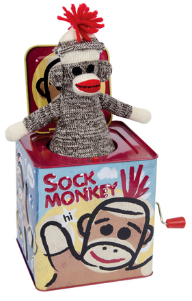 Sock Monkey Jack In The Box picture