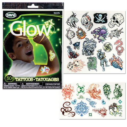 Glow in the Dark Tattoos for Boys picture