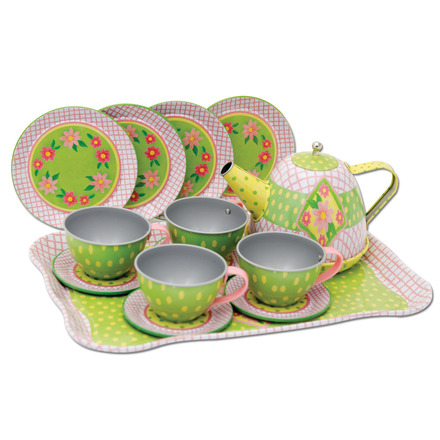 Childrens Tin Tea Set In Case picture