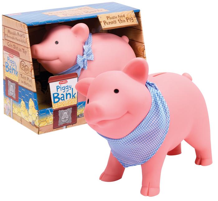Rubber Piggy Bank  Schylling