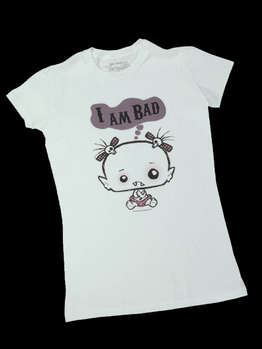 I Am Bad -- Women's T-Shirt, Snug Fit picture