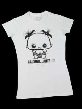 Caution I Bite -- Women's T-Shirt, Snug Fit picture
