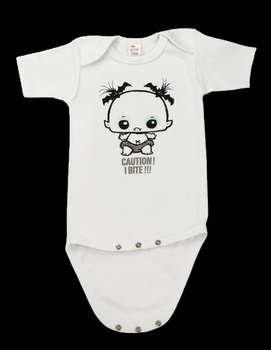Caution I Bite - Baby Onesie (White) picture