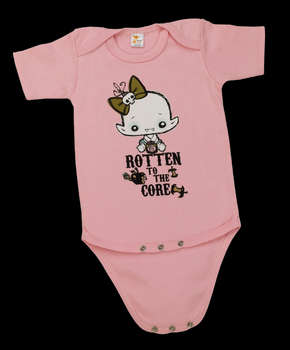 Rotten to the Core - Baby Onesie (Pink) picture