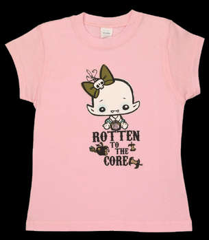 Rotten to the Core - Kids T (Pink) picture