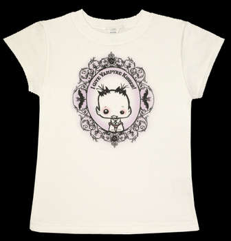 I Give Vampyre Kisses - Kids T (White) picture