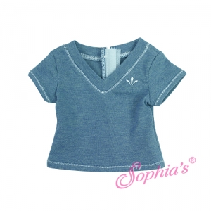 Blue Heather V-Neck T picture