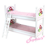 Hand Painted White Bunk Bed w/ Flower Design