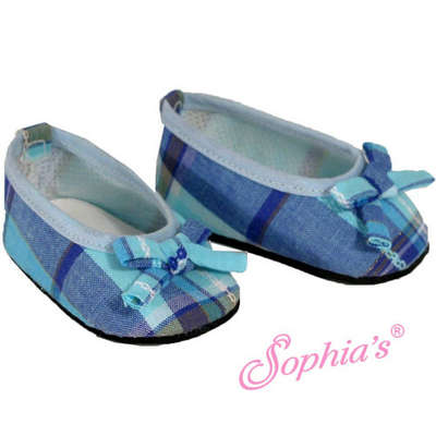 Blue Plaid Ballerina Flats picture