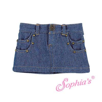 Denim Studded Mini Skirt picture
