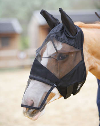 Full Face Mesh Fly Mask With Zip-Off Nose picture