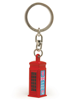 Telephone Box London 2012 Souvenir Keyring (GS62225) picture