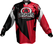 GI CHARG'R PADDED PRO JERSEY-RED/BLK-XL