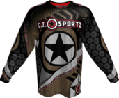 GI CHALLENG'R PLAYING JERSEY-TAN/BLK-MED