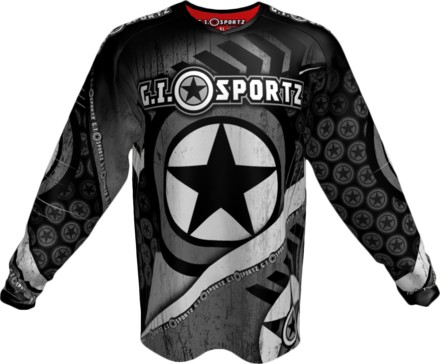 GI CHALLENG'R PLAYING JERSEY-GRAY/BLK-XL picture
