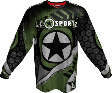 GI CHALLENG'R PLAYING JERSEY-GREEN/BLK-LARGE picture