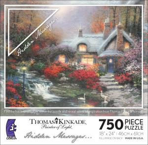Thomas Kinkade Hidden Messages - Evening at Swanbrooke Cottage picture