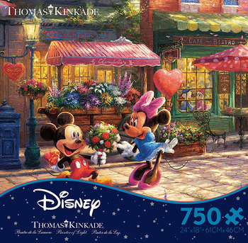 Thomas Kinkade Disney - Mickey and Minnie Sweetheart Cafe picture
