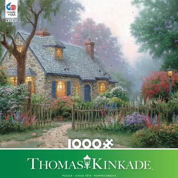 Thomas Kinkade 1000 Piece - Foxglove Cottage picture
