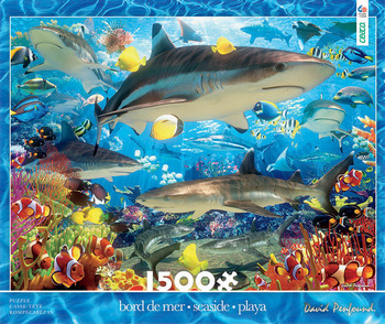 1500 Piece - Reef Sharks picture