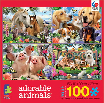 Kids 4 in 1 - Adorable Animals picture