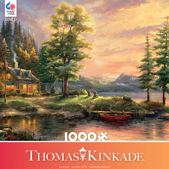 Thomas Kinkade 1000 Piece - Morning Light lake picture