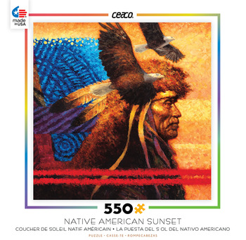 Native American Sunset - Tapestry picture