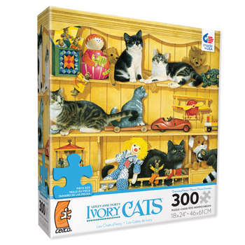Ivory Cats - Kittens in the Toys picture