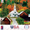 Around the World USA - Waits River Church, Vermont, New England