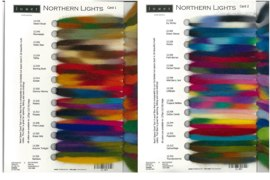 Northern Lights Fibers Sample Card picture